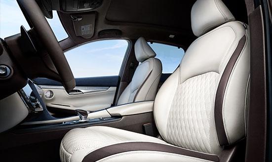 backseat of QX50