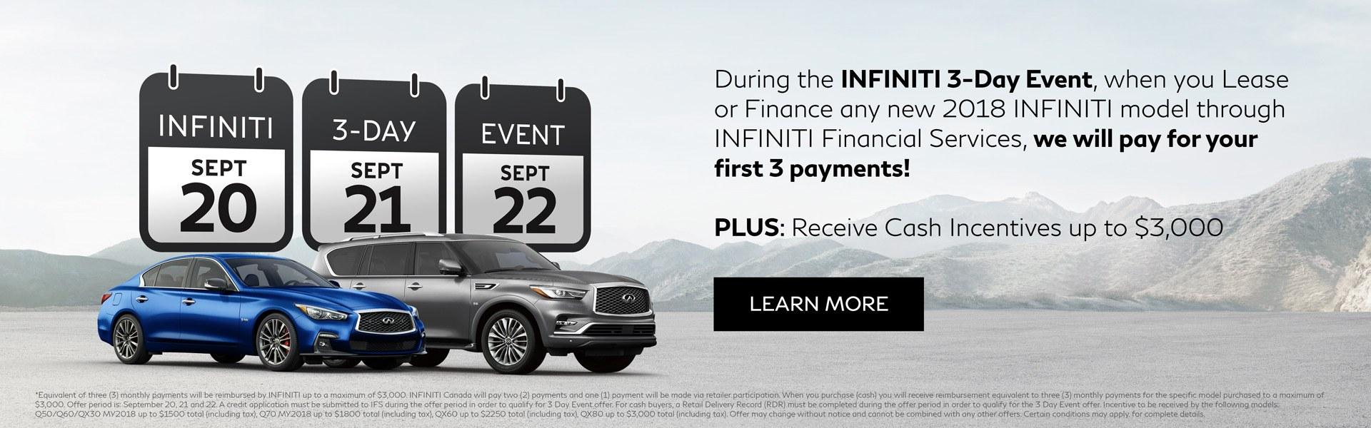 Endras Infiniti 3 day sale private sale